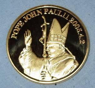 Pope John Paul Gold Coin Christmas Easter Gospels Psalms Roman Catholic Church