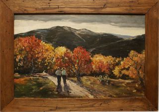 Landscape Antique Oil Painting by Thomas John Mitchell