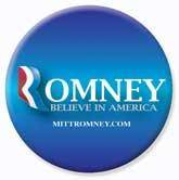 Mitt ROMNEY R CRYSTAL Lapel Pin Red White Blue FREE BUTTON B e a utiful