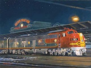 Travel by Train Train Station Artist John Winfield 1000 Piece Jigsaw Puzzle New