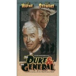 VHS The Duke The General Lost Interviews with John Wayne James Stewart |