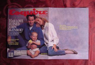 Esquire Magazine July 1987 John McEnroe Tatum O'Neal