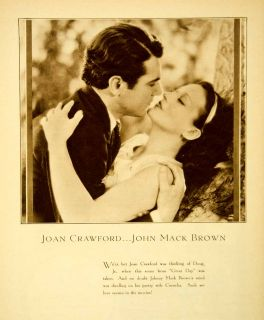 1930 Rotogravure Joan Crawford John Mack Brown Great Day Portrait Movie Film