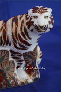 Royal Crown Derby Bengal Tiger Paperweight LVII Boxed