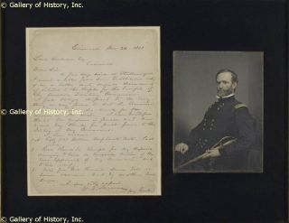 William T Sherman Autograph Letter Signed 12 24 1863
