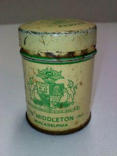 John Middletons Perique tobacco tin vintage