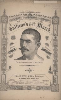 1883 John L Sullivan's Grand March Sheet Music