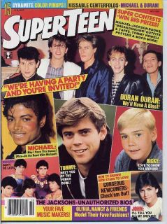 Michael Jackson Duran Michael Schoeffling Menudo Matt Dillon Cain Devore Teen 84