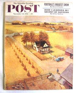 1955 November 26 s E Post Magazine Al Plueger Kentucky Long Rifle