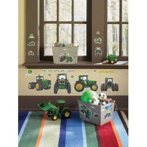 John Deere 25 Big Wall Stickers Green Tractor Room Decor Vinyl Decals Kids Farm