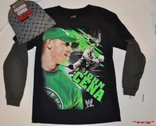 NEW BOYS WWE WRESTLING JOHN CENA LONG SLEEVE T SHIRT WINTER KNIT HAT BEANIE