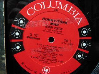Johnny Horton Honky Tonk Man LP Vinyl Record Album Promo