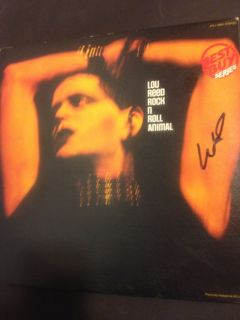 Lou Reed Rock N Roll Animal Signed Autograph LP Record Album