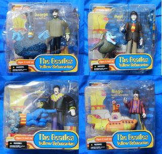 MCFARLANE BEATLES YELLOW SUBMARINE SET OF 4 JOHN PAUL GEORGE RINGO