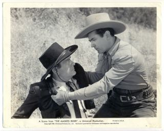 Johnny Mack Brown Original Movie Photo 1941 Masked Rider