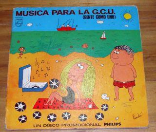 Sheila Johnny Hallyday OA Musica Para La GCU Argentina LP