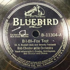 Five 78 RPM Bluebird Records Glenn Miller Others O
