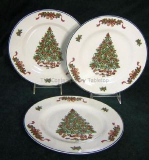 Johnson Brothers Victorian Christmas Set of 3 Dinner Plates NEW