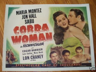 Cobra Woman Maria Montez Jon Hall Sabu Lon Chaney '43