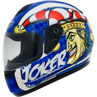 MT Thunder Joker Motorcycle motorbike Helmet Blue Extra Large