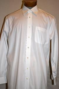 JOHN W  SIGNATURE EGYPTIAN COTTON CLASSIC FIT DRESS SHIRT 16 35