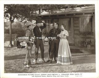 Cowboy Western Johnny Mack Brown Orig Stranger from Santa FE Monogram Pictures