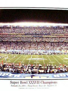 Super Bowl XXXVII TAMPA BAY BUCS CHAMPS 2003 Panoramic Poster Print