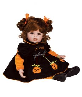 "Adora Jolly Jack O Lantern Vinyl Baby Toddler Doll Red Hair Brown Eyes 20"" New"