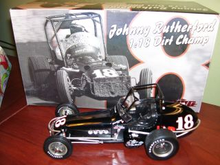 XRARE Johnny Rutherford 18 Dirt Champ Vintage GMP Sprint Car Limited 750 Made