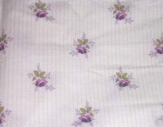 Rachel Ashwell Viola Fabric Violet Floral Stripe yd New