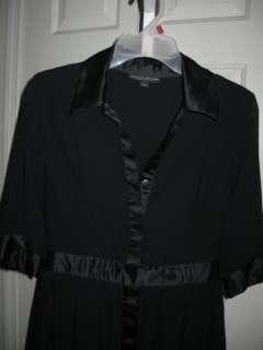 Jonathan Saunders Target Black Dress 7 Poly Chiffon Pleated