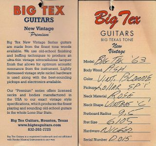 Big Tex 1963 Telecaster