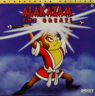ALAKAZAM THE GREAT Laserdisc Jonathan Winters Frankie Avalon Etc Very Rare LD