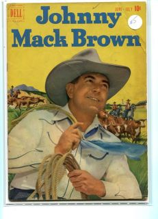 JOHNNY MACK BROWN 5 SOLID GRADE PHOTO COVER DELL GEM