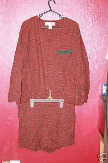 Victoria Secret Large 2pc Plaid Red Green Christmas