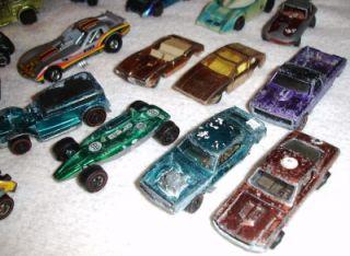 34 Vintage Hot Wheels Redlines Lot Collection Plus Case Redline Lightning Marx