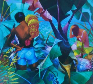 Hawaiian Pastorale by Artist John Thomas