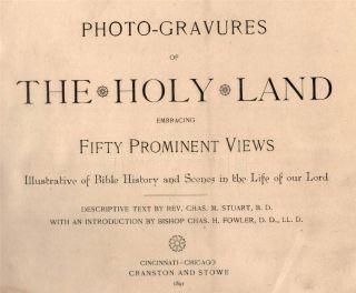 1891 Antique Holy Land Photographs Album Jerusalem Palestine Joppa Belehem 1st |