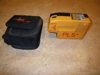 Pacific Laser Systems PLS3 Self Leveling 3 Point Laser Plumb Level No Reserve
