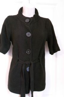 Jones New York Sport chunky knit short sleeve cardigan sweater SZ M