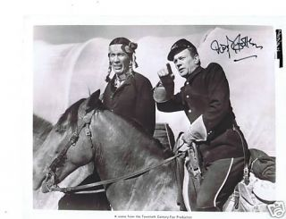 Joseph Cotten Signed Photo Still Two Flags West Western in American Civil War