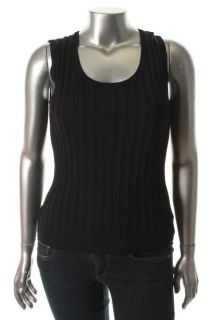 Jones New York NEW Black Ribbed Sleeveless Scoop Neck Tank Top Shirt Plus 1X