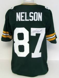 Jordy Nelson Autographed Green Bay Packers Green Jersey SI
