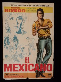 El Mexicano Jorge Rivero Western 1966 Argentine 1sh Movie Poster