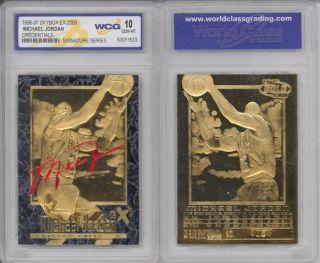 Michael Jordan 23kt Gold Card Skybox EX 2000 Credential