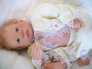 Enchanted Moments Nursery Lovely Reborn Baby Girl w Mag Tummy Plate Amelia