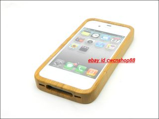 Natural Wood Bamboo Jordan Hard Cover Case for iphone 4 4S