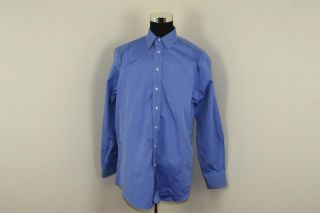 Jos A Bank Men's Dress Shirt 17 35 Solid Blue