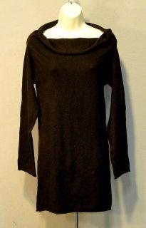 Joseph Brown Kni Silk Cashmere Boa Neck Mini Dress S |
