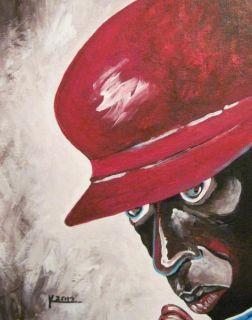 10 x 8 ORIGINAL AFRICAN AMERICAN JAZZ ART MILES DAVIS MUSIC PORTRAIT PAINTING